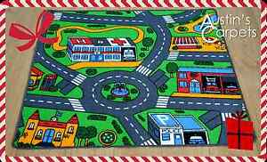 Image Is Loading Ideal Christmas Present Road Map Childrens Rug Kids