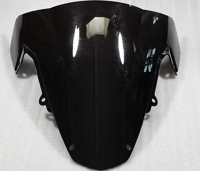 Black Windshield WindScreen Double Bubble Suzuki GSXR 1000 2003-2004 K3 GSX-R