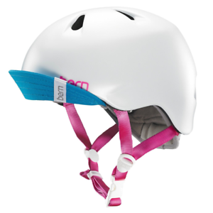Bern Nina Summer Youth Womens Helmet & Visor Satin White XSmall   Small