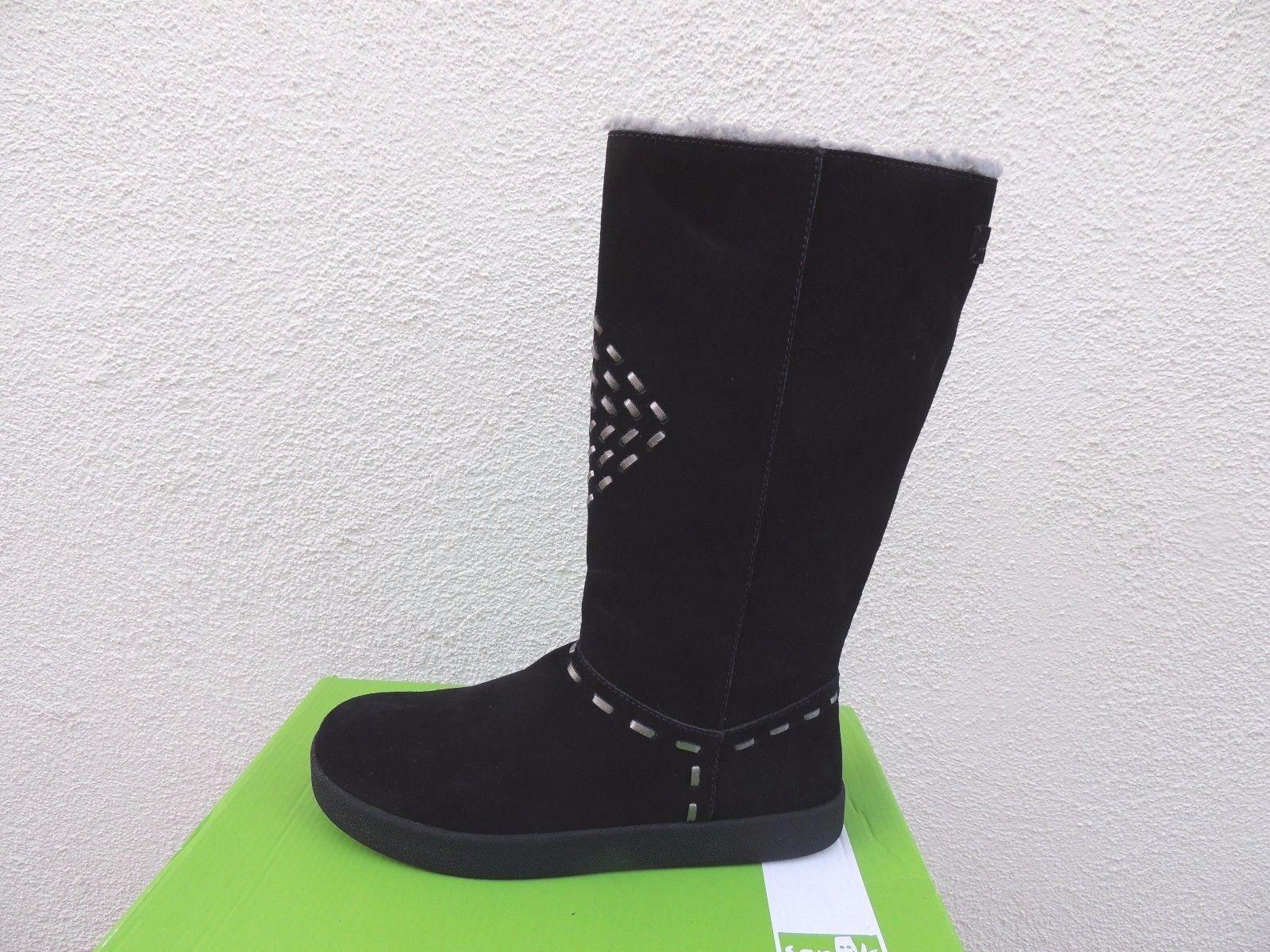 Sanuk Tostado colas Altas Gamuza Negra botas Altas colas forrado de piel sintética, tamaño nos 7 38 euros  Nuevo 4fc51e