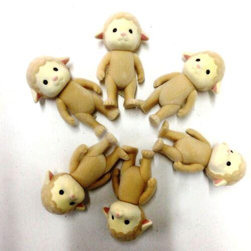 Lot6pcs Sylvanian Families Sheep Family 3/'/' Action Figure Kid Toys Gift Doll