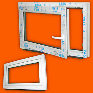 Lagerware-Fenster-600x500mm-60x50cm-Weiss-3fach-Verglasung-DIN-Links