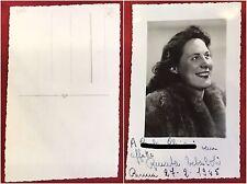 399) Foto cartolina del 1945 con dedica autografa di Renata Tebaldi soprano