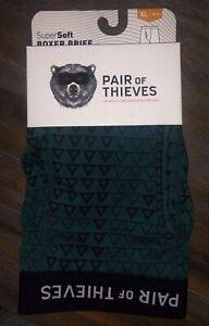 Men-039-s-Pair-of-Thieves-SuperSoft-Boxer-Brief-Underwear-Green-Black-Size-XL