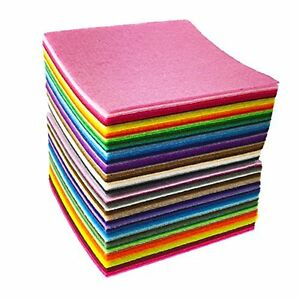 49PCS-Assorted-Color-Wool-Felt-Fabric-Sheets-Patchwork-Sewing-DIY-Craft-30-30cm
