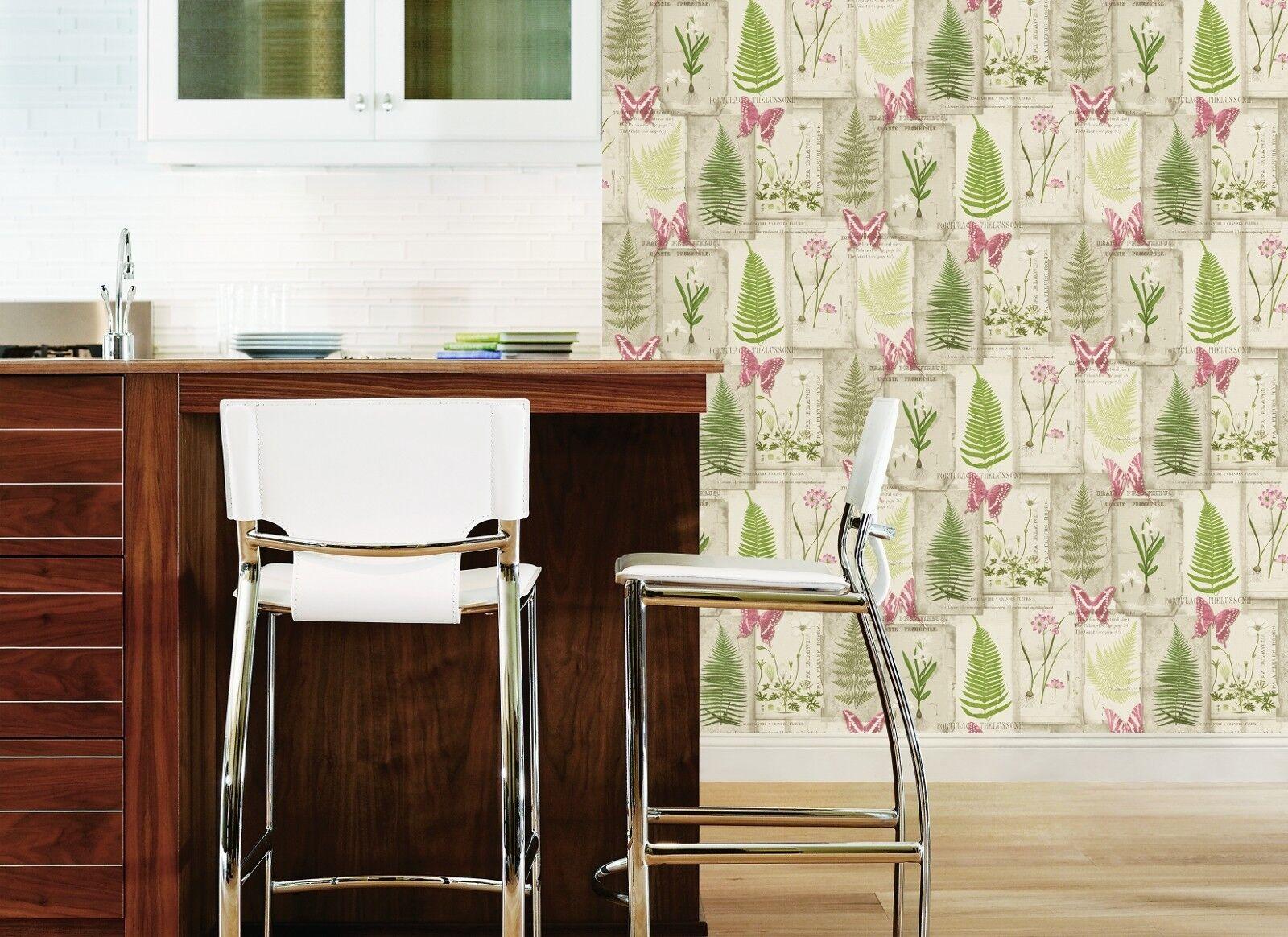 Essener Tapete frais cuisine 5 fk34438 Ivy Vert Blanc Blanc Blanc Papier peint de en vinyle ba59e8