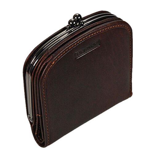 Branco Damenbörse Portemonnaie Geldbeutel Bügelbörse Damen Geldbörse Leder
