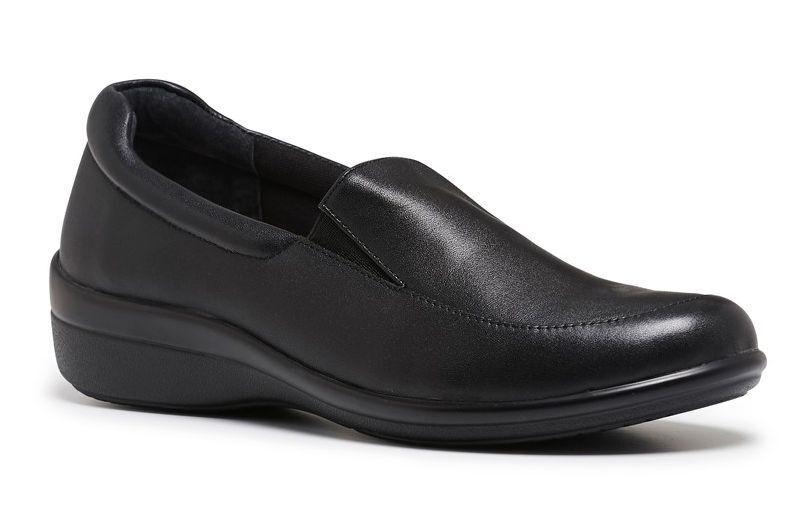 WOMENS HUSH PUPPIES ODETTE ODETTE ODETTE RDC CASUAL DRESS WORK LEATHER BLACK FLATS SHOES e03600