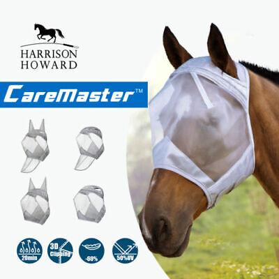Harrison Howard CareMaster Fliegenmaske UV-Schutz Standard Schwarz//Silber