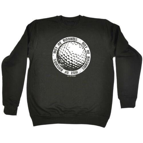 Golfing Childrens Sweatshirt Funny Jumper Golfbig Ball Logo