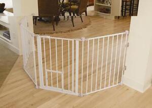Carlson Flexi Walk Thru Gate With Pet Door 1510pw Ebay