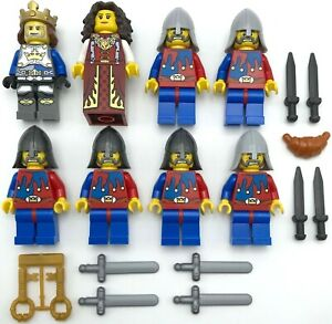 Lego-8-Neuf-Chateau-Chevalier-Mini-Figurines-Royaumes-Jesters-avec-King-Reine