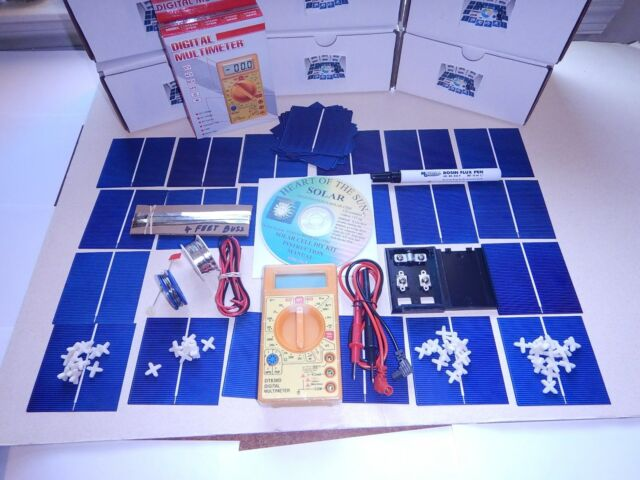 Learn to build your own solar panels diy kit+Multi Meter, great instructions