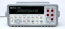 New Listinghp Agilent 34401a Digital Multimeter 6 Digit Tested Amp Spot On Leads Clean