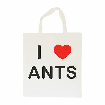 I Love Ants - Cotton Bag | Size choice Tote, Shopper or Sling