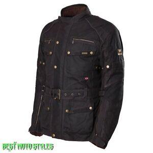 Modeka-GLASGOW-Motorrad-Herren-Wachsjacke-Textiljacke-schwarz