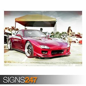 Photo Picture Poster Print Art A0 A1 A2 A3 A4 MAZDA RX7 CAR POSTER AA775