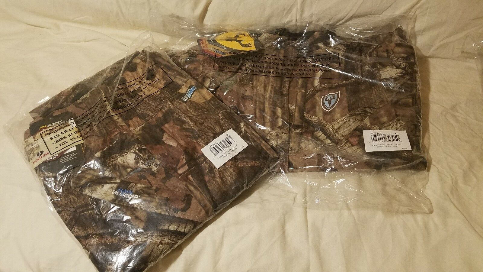 Scent Blocker-Chaqueta para mujer-Triple Threat & Babero Set Mossy Oak Infinity-Talla XL