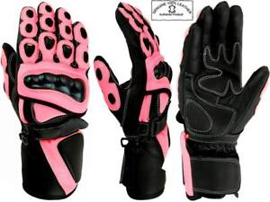 LADIES-PINK-HAWK-WOMENS-CE-ARMOUR-MOTORBIKE-MOTORCYCLE-WINTER-LEATHER-GLOVES