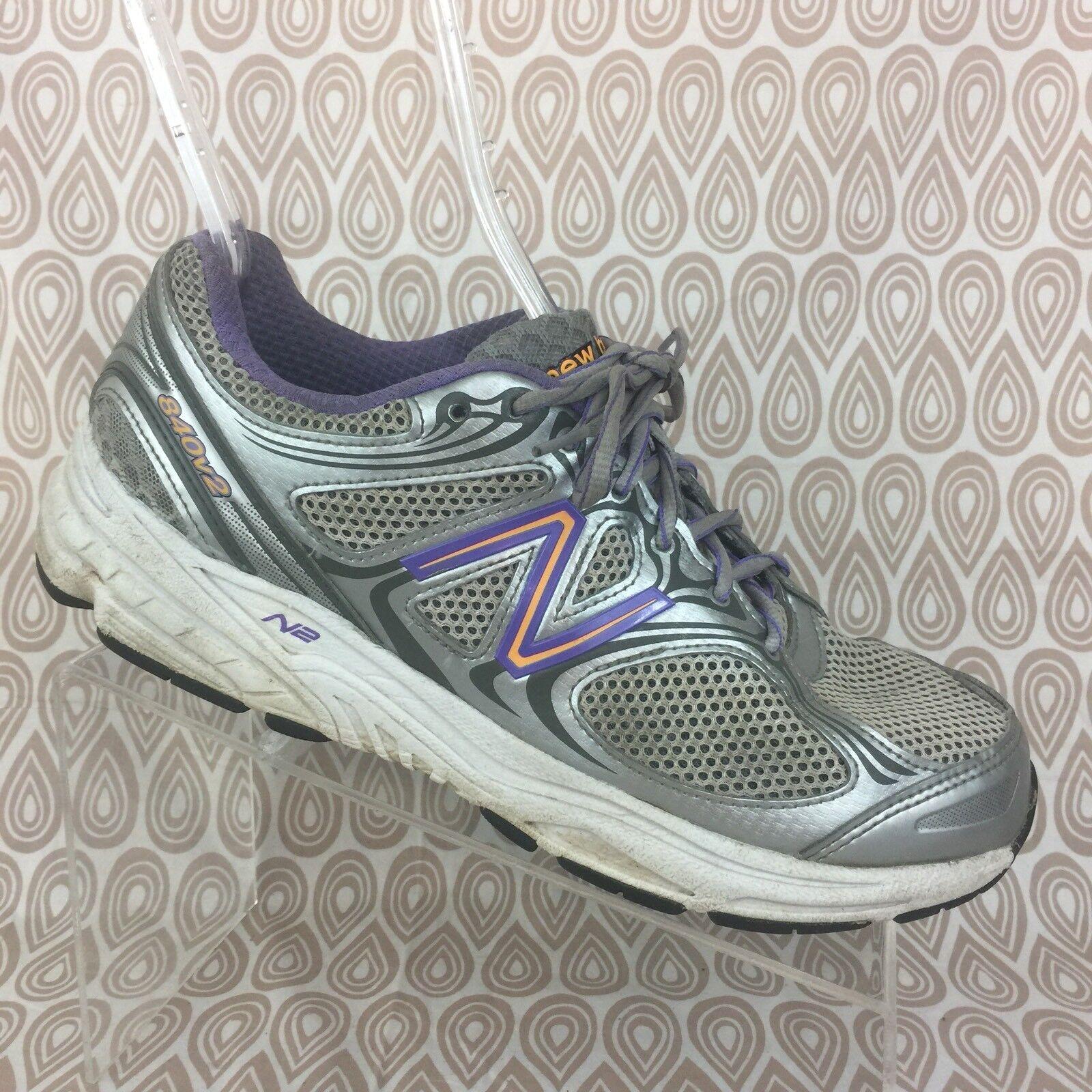 New balance balance balance 840v2 Running Zapatos Talla 9 Mujer Plata Púrpura entrenamiento cruzado S518  mejor servicio