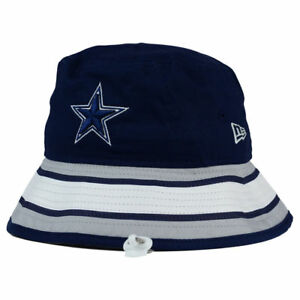 42060031 Details about Dallas Cowboys NFL Team Stripe Bucket New Era Training Camp  Men's Floppy Hat Cap