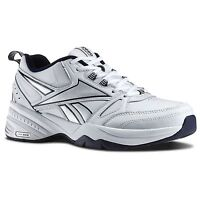 Reebok Royal Trainer Mt Memory Tech White Navy Leather Mens Classic