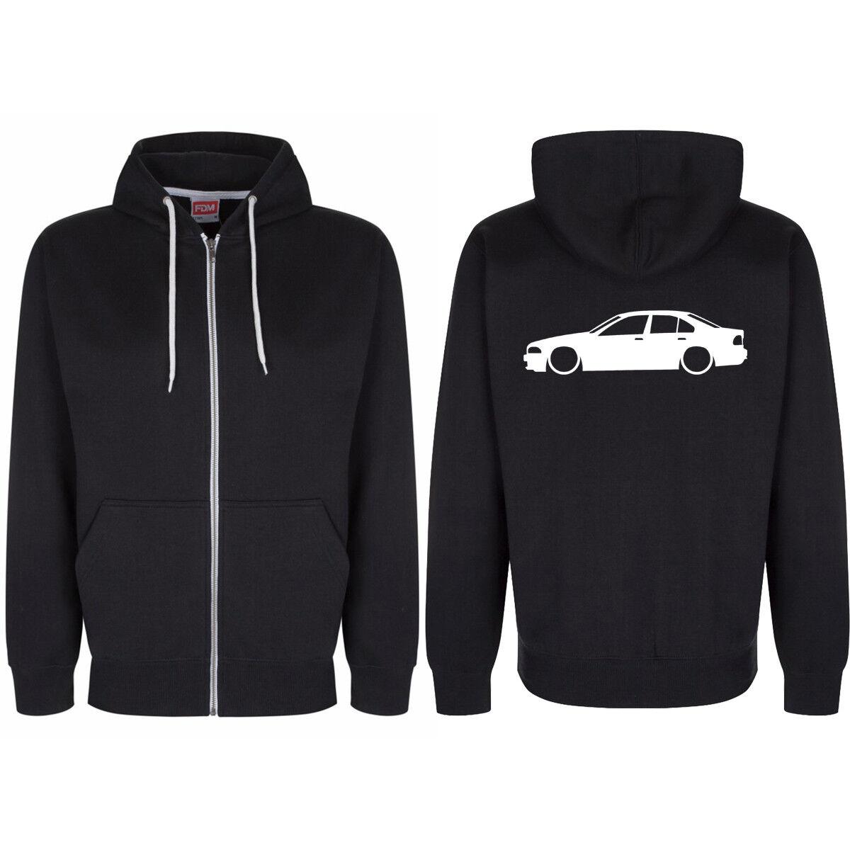 BMW E39 Rear Logo Zip Through Hoody Hoodie Hooded Top