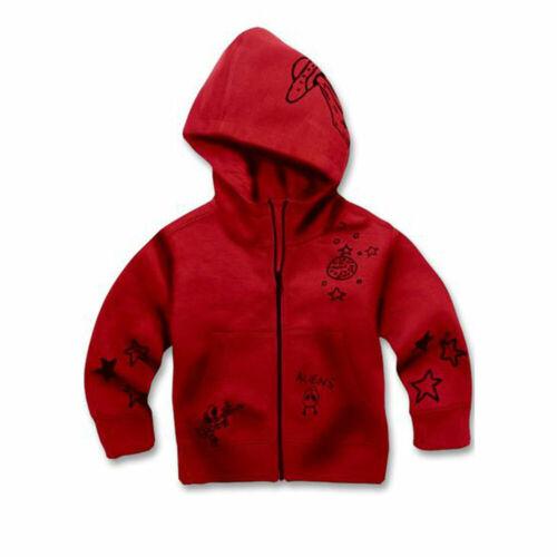 Jordan Craig Galaxy Zip Up Kids Hoodie Red-Black 8284hk-red