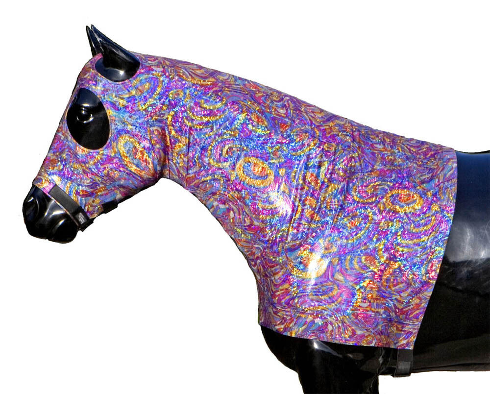 Sleazy Sleepwear Genuine for Horses Genuine Sleepwear Stretch Hood Jewel Foil Print XL With ZIPPER dfdf4d