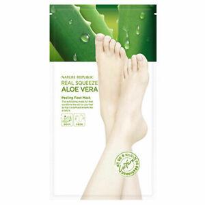 NATURE-REPUBLIC-Real-Squeeze-Aloe-Vera-Peeling-Foot-Mask-25g
