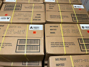 New Case A & B MRE 12 Meals. 03/2023 Inspection Date. Lowest Price On Ebay!!!