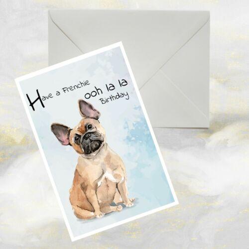 Funny Dog Greetings Card. French Bulldog  Dog Greetings Card Frenchie Dog Card