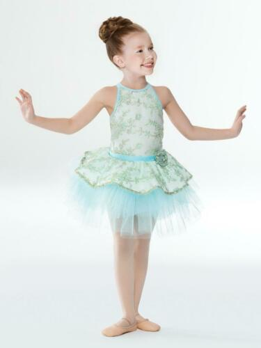 Dance Costume XS or Small Child Mint Revolution Ballet DUET Pageant Dress Up