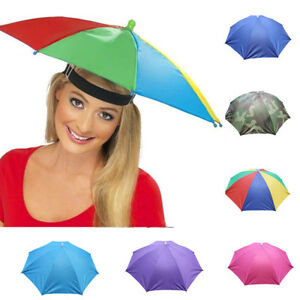 3bf79611ee136 Image is loading Foldable-Novelty-Umbrella-Sun-Hat-Golf-Fishing-Camping-