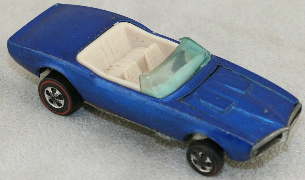 Hot Wheels Redline 1969 Custom Firebird Congreenable bluee Light Interior