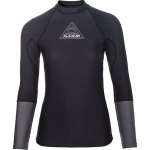 Dakine-FLOW-Damen-Lycra-Rash-Guard-Surfshirt-Longsleeve-Black