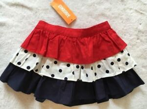 NWT Gymboree Star Spangled Summer 4th of July Tiered Polka Dot Skirt Size 12-18