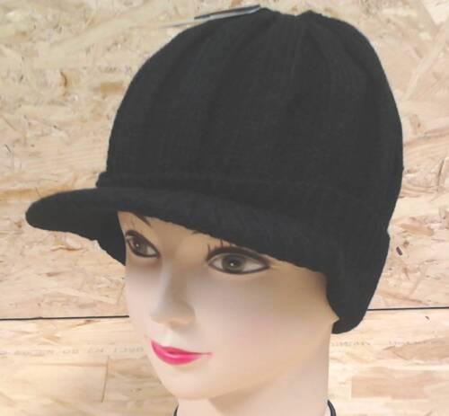 Damen und Herren Winter Hut Mütze Cap Kap Wolle schön Warm   Schwarz
