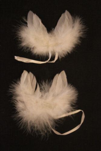 Ala de ángel plumas Weiss 2 par 7*7 cm