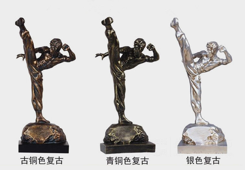 Charm Eternal  Kong Fu Bruce Lee Sculpture Decoration Art Statue cifras 19.5 H  qualità di prima classe