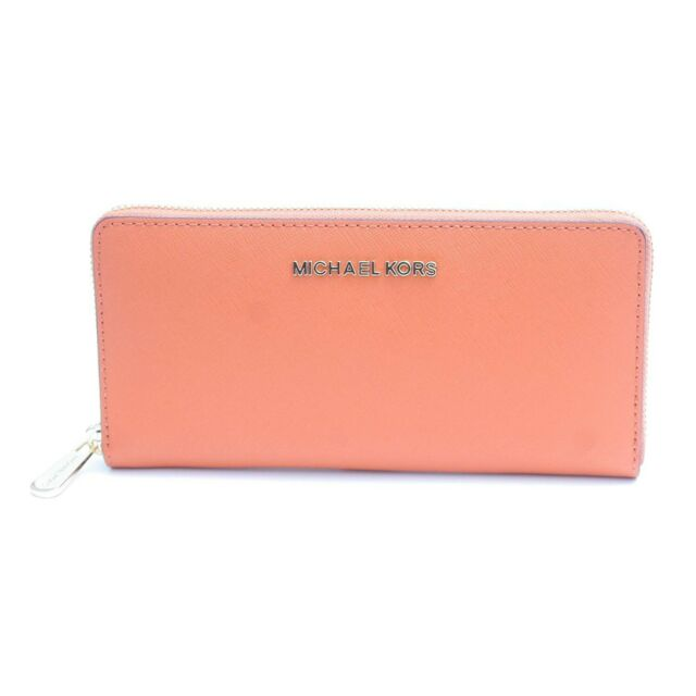 9b6e00a18758 NWT Michael Kors Gift Box Large Wallet Cherry Tangerine Card Bill Zip  35H7XGFE1L