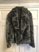 eb57ae2475 French Connection Berry Checked Highland Wool Faux Fur Military Coat ...