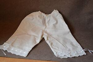 Unterhose mit Spitze weiß  f. große Porzellanpuppe Künstlerpuppe  langes Bein