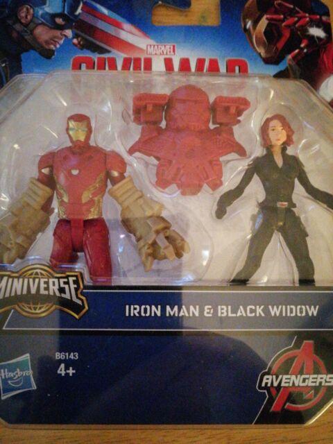 IRON Man vs Black Widow Miniverse Action figure Marvel Avengers