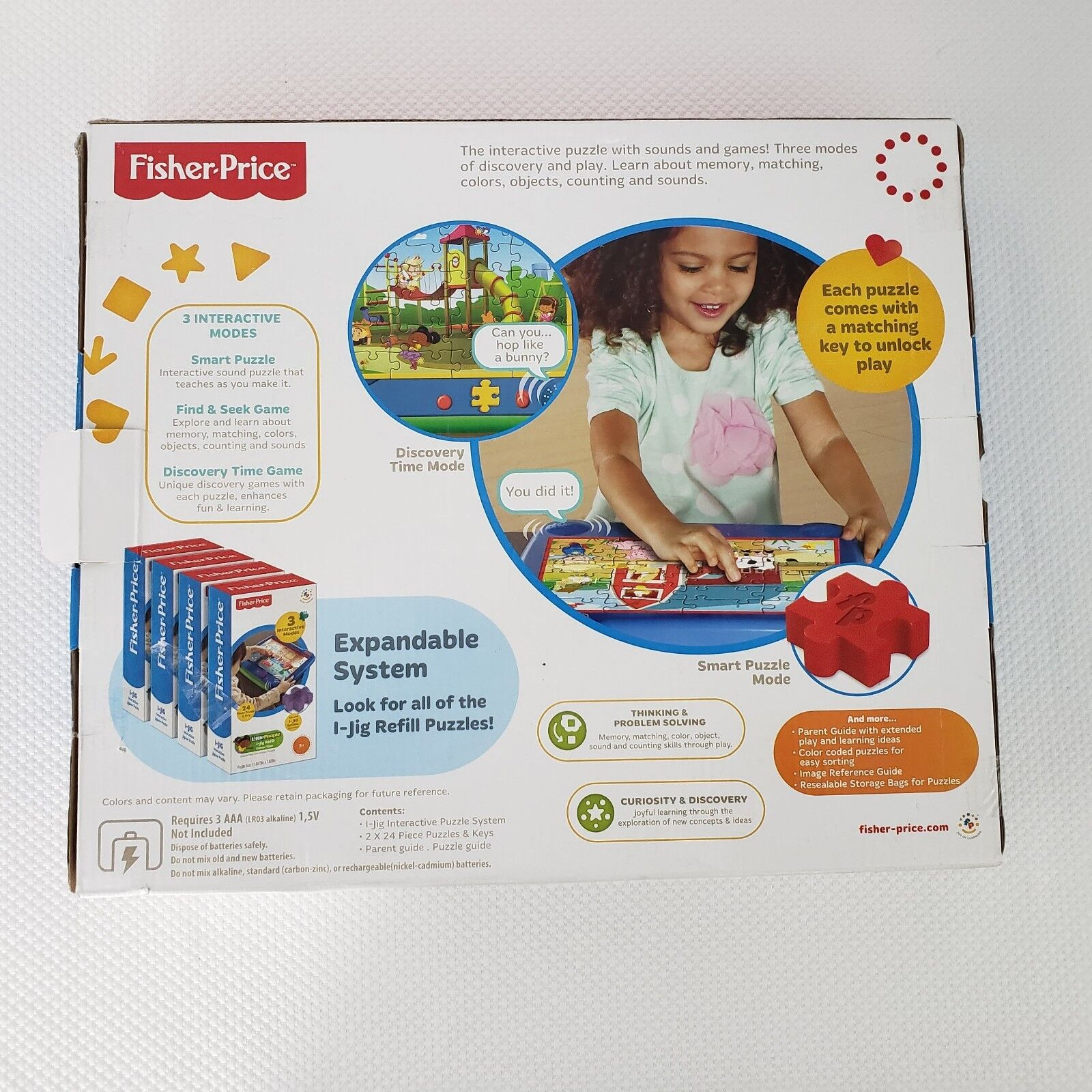 New Fisher Price Little Little Little People I-Jig Electronic Sounds Puzzle Board 741753