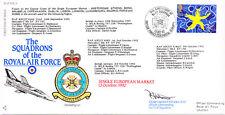 RAF FDC6 1992 European Market RAF FDC signed CO 111 TORNADO Sqn