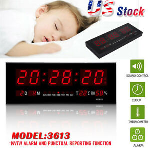 Large-Big-Modern-Digital-LED-Wall-Clock-24-Hour-Display-Timer-Alarm-Home-Decor