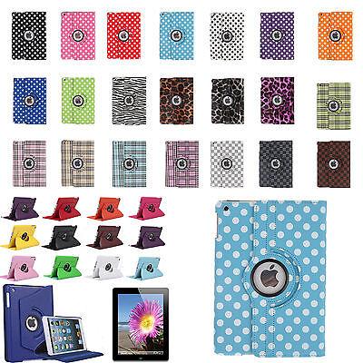 360 Rotating PU Leather Case Smart Cover Stand for iPad 2 iPad 3 iPad 4 Air Mini