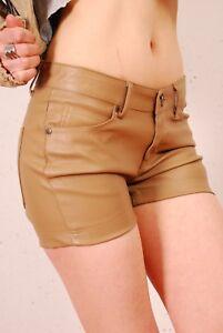Damenmode Aufrichtig Hotpants Shorts Kunstleder,gr.34,sandfarben,amisu,gogo Kleidung & Accessoires Mangelware