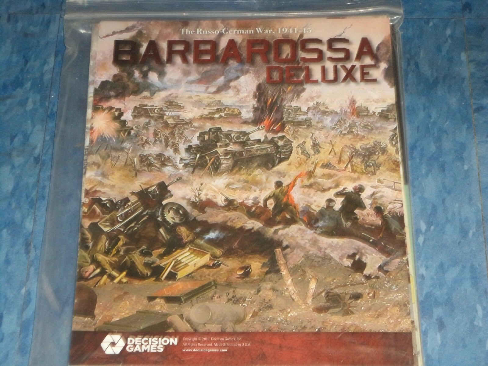 Barbarossa Deluxe Exclusive Edition - Decision Games WWII War Board Game New